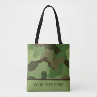 Custom Camouflage Tote Bag