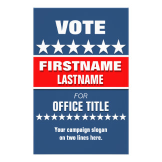 Custom Campaign Political Template 14 Cm X 21.5 Cm Flyer