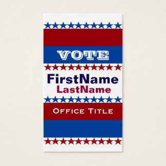 Custom Campaign Template Business Card