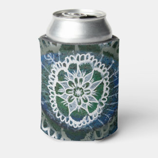 Custom Can Cooler Blue Mandala Edelweiss