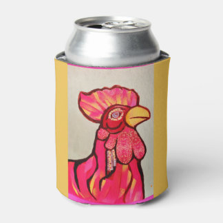 Custom Can Cooler with Red Rooster