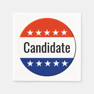 Custom Candidate Campaign 2018 Midterm Election Paper Napkins