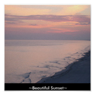 Custom Canvas Print Beautiful Sunset