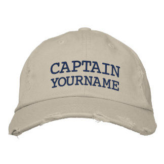 Custom Captain Or Boat Name Embroidered Hat