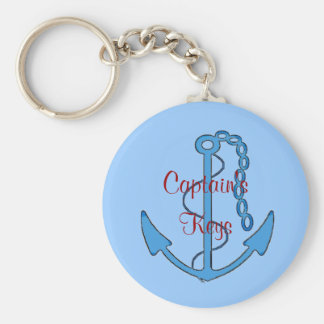 Custom Captain's Keys Anchor Keychain