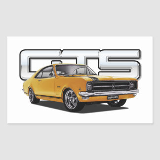 Custom Car Art Rectangular Sticker