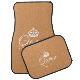 Custom Car Floor Mats - Queen Golden Tan
