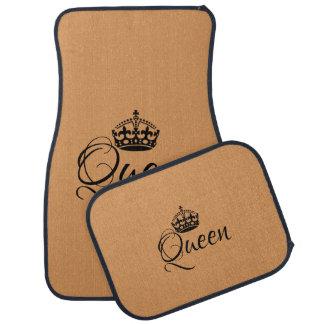 Custom Car Floor Mats - Queen Golden Tan Black