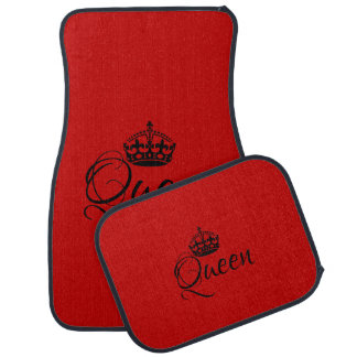 Custom Car Floor Mats - Queen Red