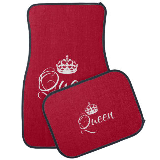 Custom Car Floor Mats - Queen Wine