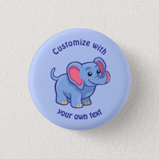 Custom Cartoon Elephant 3 Cm Round Badge