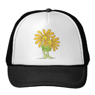Custom Cartoon Flowers Hugging Each Other Hat