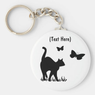 Custom Cat Keycahin Basic Round Button Key Ring