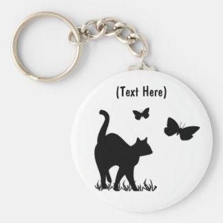 Custom Cat Keycahin Basic Round Button Key Ring