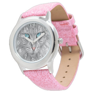 Custom cat kitty dog pet photo watch
