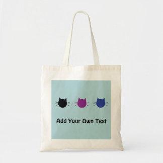 Custom Cats Modern Graphic Design Tote Bag