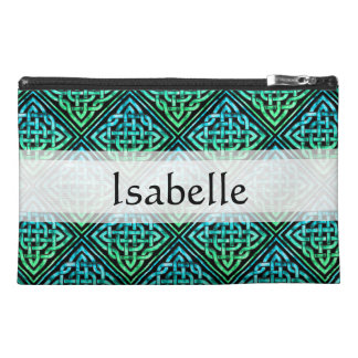 Custom Celtic Knot - Diamond Blue Green Travel Accessory Bag