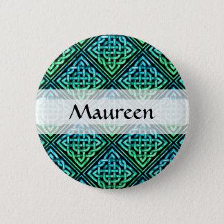 Custom Celtic Knot - Diamond Tile Blue Green 6 Cm Round Badge