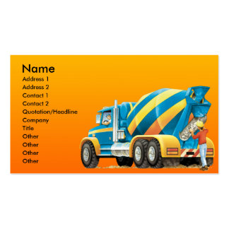 Custom Cement or Concrete Mixer Construction Pack Of Standard Business Cards