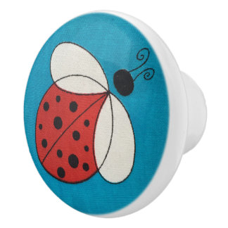 Custom Ceramic Knob /ladybug image