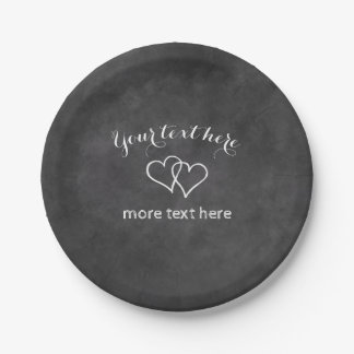 Custom chalkboard paper plates for wedding party