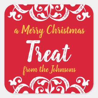 Custom Chalky Christmas Holiday Treat Sticker