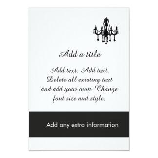 Custom Chandelier Formal Evening Party Invitation