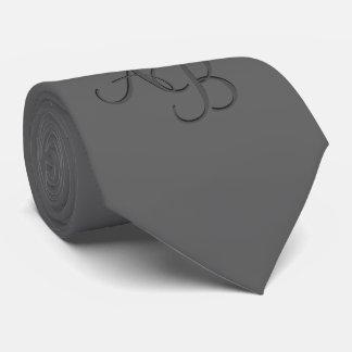 Custom Charcoal Gray Monogrammed Tie
