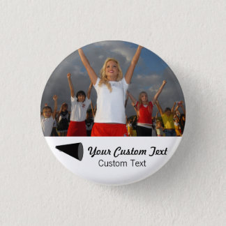 Custom Cheerleading Photo Team Spirit 3 Cm Round Badge