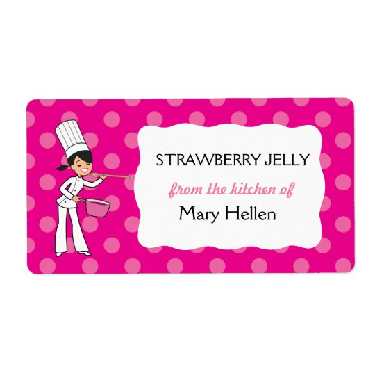 "Custom Chef Adhesive Label ""From the Kitchen"" Shipping Label"