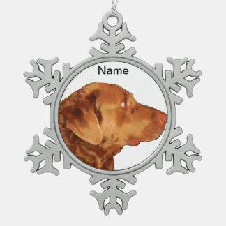 Custom Chesapeake Bay Retriever Snowflake Ornament