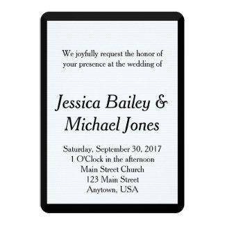 Custom Chevron Background Wedding Invitation