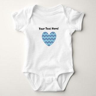 Custom Chevron Heart Infant Onepiece Tees