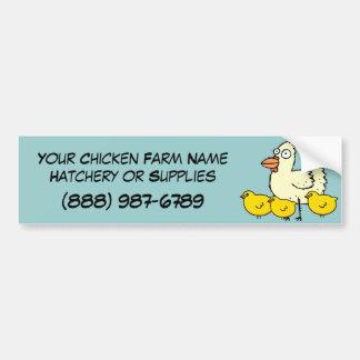 Custom Chicken Poultry Farm Operation Bumper Sticker