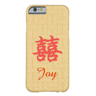 Custom Chinese Double Happiness Joy Case Barely There iPhone 6 Case