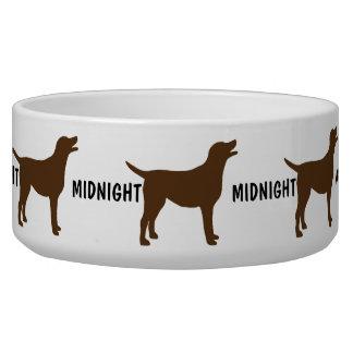 Custom Chocolate Lab Dog Bowl