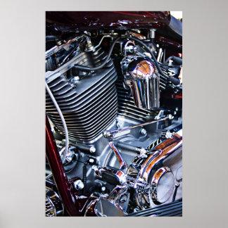 Custom chopper engine poster