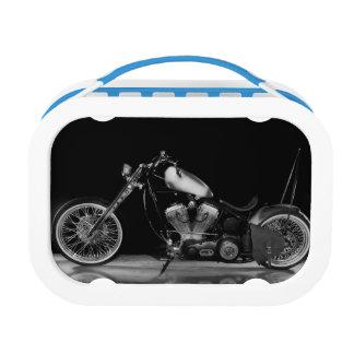 Custom chopper motorcycle lunch box