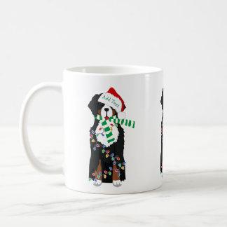 Custom Christmas Bernese Mountain Holiday Dog Coffee Mug