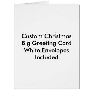 Custom Christmas Big Greeting Card  White Envelope