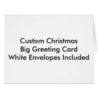 Custom Christmas Big Greeting Card, White Envelope Big Greeting Card