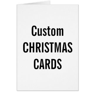 "Custom Christmas Card 5"" x 7"" Blank Template"