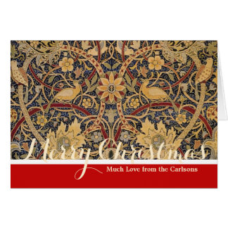 Custom Christmas Card Greetings William Morris