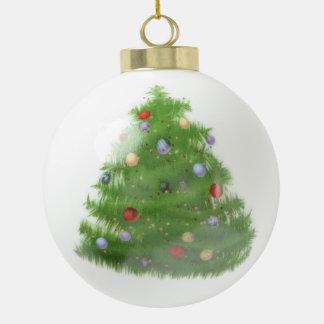 Custom Christmas Ceramic Ball Ornament