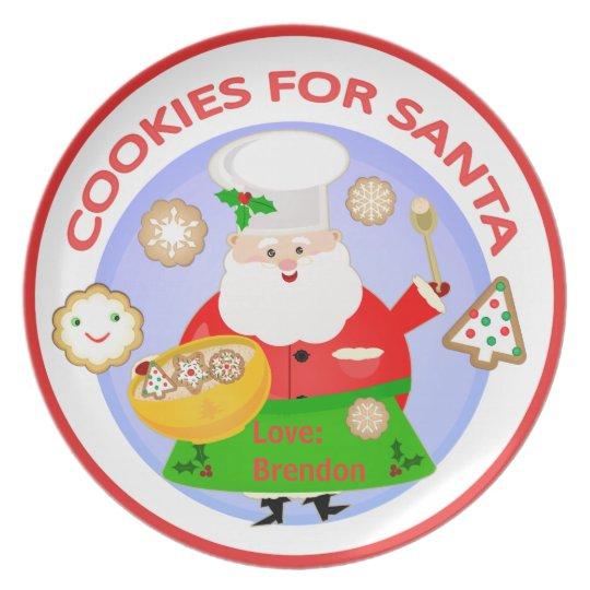 Custom Christmas Cookies For Santa Plate