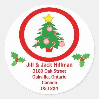 Custom Christmas Eve Stickers Address Stickers