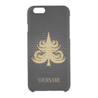 Custom Christmas gold classy new fashion rich look Clear iPhone 6/6S Case