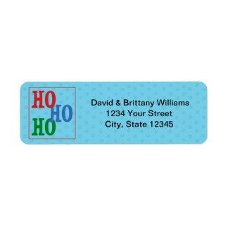 Custom Christmas Holiday Return Address Label