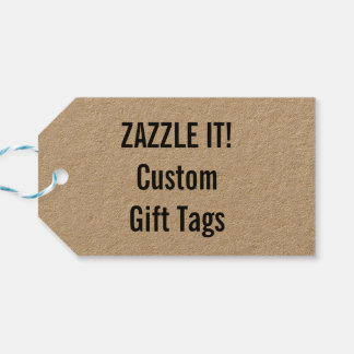 Custom Christmas Kraft Gift Tag Blank Template