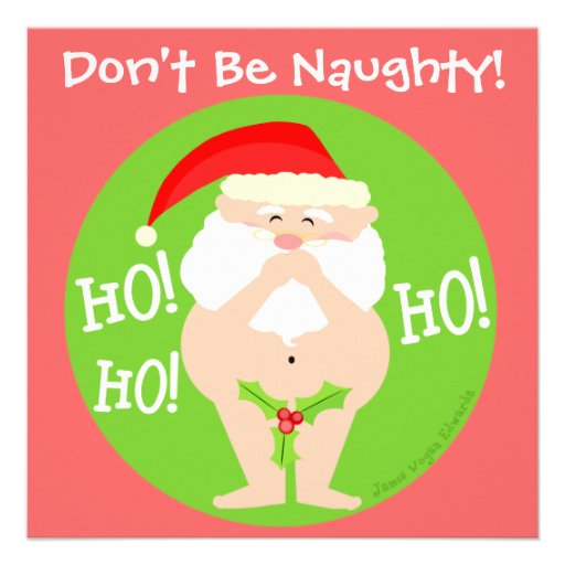 Custom Christmas Naughty Santa Party Invitation